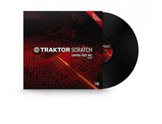 Immagine di TRAKTOR SCRATCH CONTROL VINYL MK2 BLACK