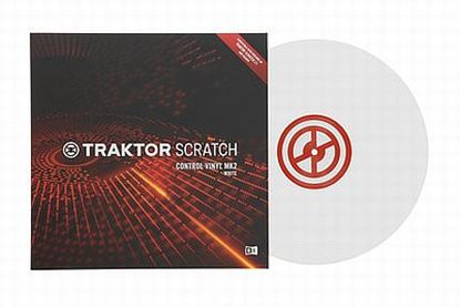 Immagine di TRAKTOR SCRATCH CONTROL VINYL MK2 WHITE