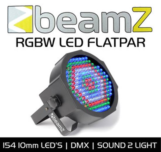 Immagine di LED Flat PAR 154 x10mm RGBW IR DMX