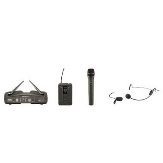 Immagine di WM600DKIT microfono 1 gelato - 1 archetto/lavalier