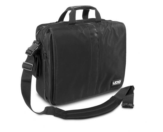 "Immagine di ULTIMATE COURIERBAG DELUXE 17"" BLACK / ORANGE INSIDE"